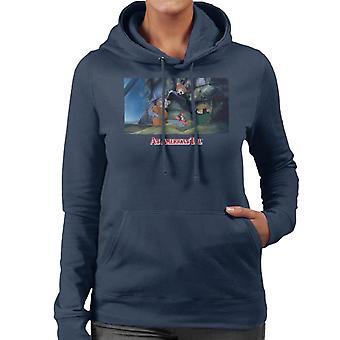 Ein amerikanischer Schwanz die Mobbing Waisen Frauen's Kapuzen Sweatshirt