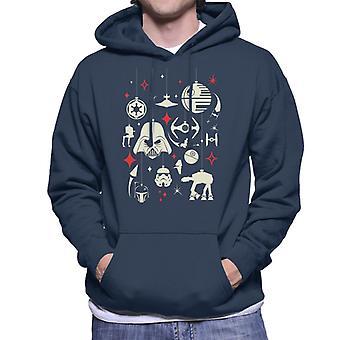 Star Wars Christmas Dark Side Ornements Men-apos;s Sweatshirt à capuchon