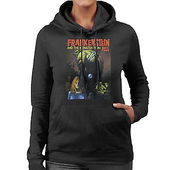 Hammer Horror Films Frankenstein Dangling Eye Ball Donna's Felpa con cappuccio