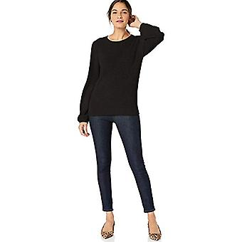 Marke - Lark & Ro Women's Bell Sleeve Pullover, schwarz, XX-Large
