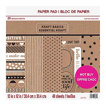 Craft Smith Kraft Basics 12x12 Inch Paper Pad