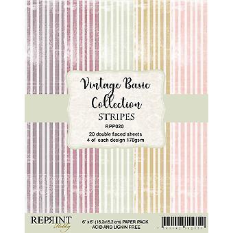 Reprint Stripes Basic 6x6 Inch Paper Pack