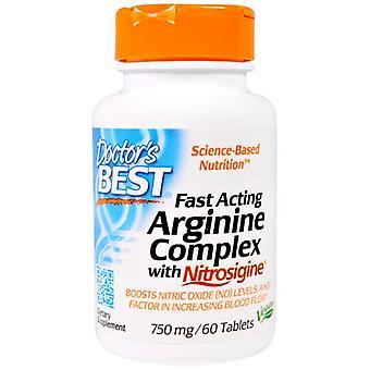 Snabbverkande arginin-komplex med nitrosigin, 750 mg (60 tabletter)-Doctor ' s bästa