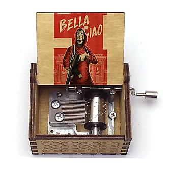 Bella Ciao 18 Tones Hand Crank Wooden Music Box