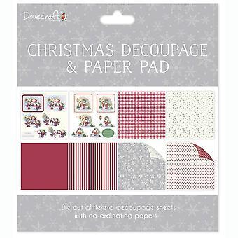 Dovecraft Christmas FSC Decoupage og Papir Pad Pinnsvin