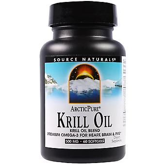 Source Naturals, ArcticPure, Krill Oil, 500 mg, 60 Softgels