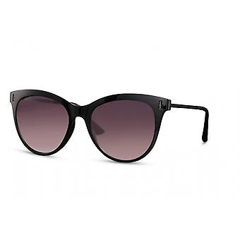 النظارات الشمسية المرأة بانتو كامل حافة كات. 3 أسود / دخان
