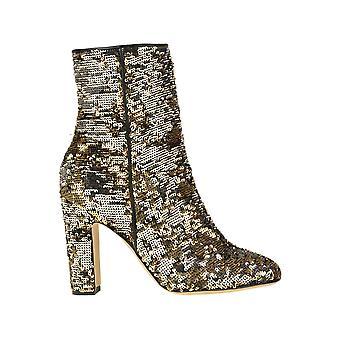 Paris Texas Ezgl425007 Women's Gold Sequins Ankle Boots