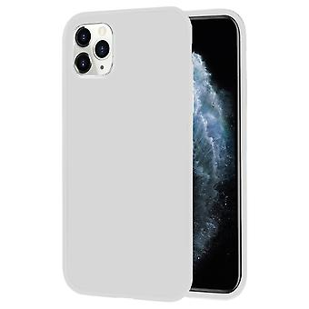 Soft Thin Mobile Protection for iPhone 11 Pro Silicone Solid Color Lightweight Ultra-Slim White