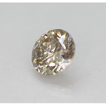 Cert 2.03 قيراط بني فاتح SI1 جولة رائعة المحسنة الماس الطبيعي 8.09mm