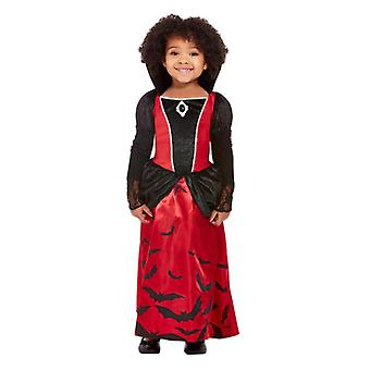 småbarn vampyr fancy kjole kostyme