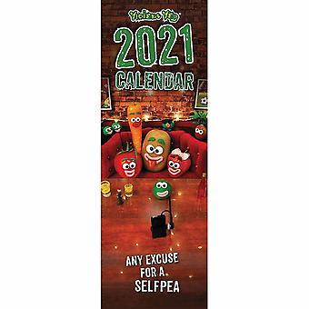 Otter House 2021 Slim Calendar - Violent Veg
