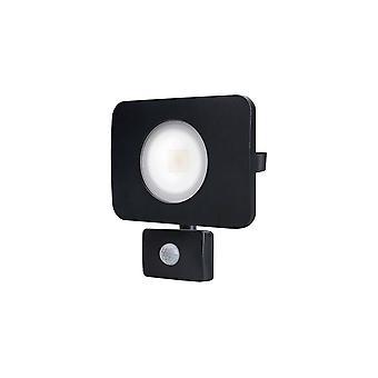 LED Floodlight 50W 3000K 4500lm PIR Sensor / Override Matt Black IP64