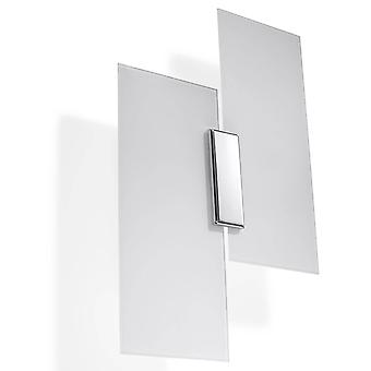 2 Light Wall Light White, Chrome, E27