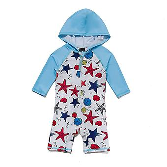 Bonverano Boys UPF 50+ Protection solaire 3/4 Manches Zipper Sunsuit à capuchon
