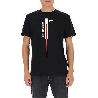 Les Hommes Ljt201700p9000 Men's Zwart Katoen T-shirt