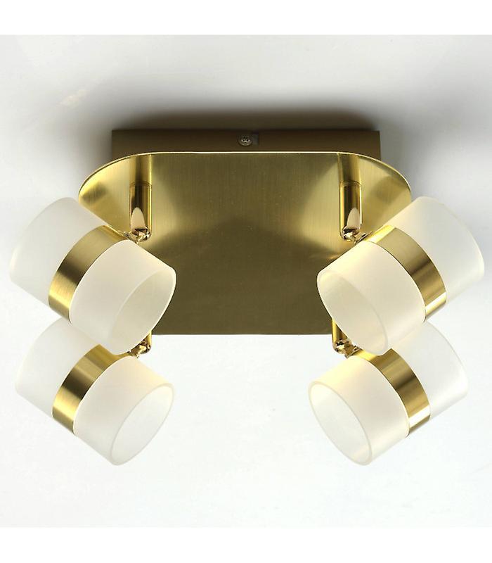 Golden Techno Ceiling Light 4 Bulbs 13 Cm
