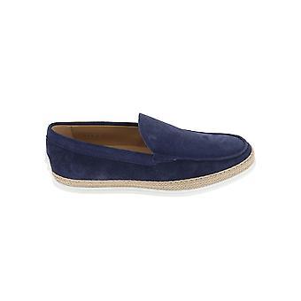 Tod's Xxm0tv0aj30re0u820 Men's Blue Suede Loafers