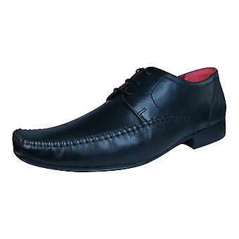 Bürokratie Ching Mens Leder Schnürschuhe formale - schwarz