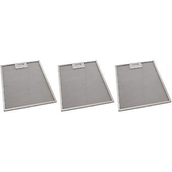 3 x yleinen liesikupu Metallinen rasvasuodatin 271mm x 320mm