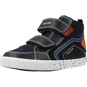 Geox b kilwi navy blue high-top boots