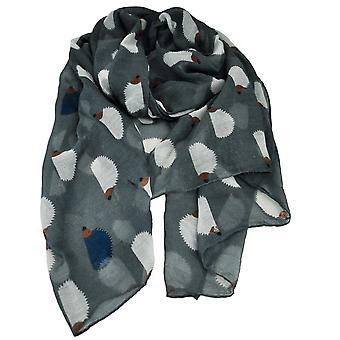 Krawatten Planet Igel Tier Druck grau leichte Frauen's Schal Schal