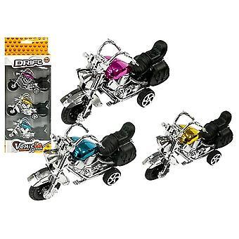 Leksaksmotorset - 3 stycken - blå, lila & guld