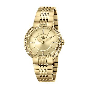 Ferre Milano Women's FM1L113M0021 Champagne Dial Gold IP Stainless Steel Watch