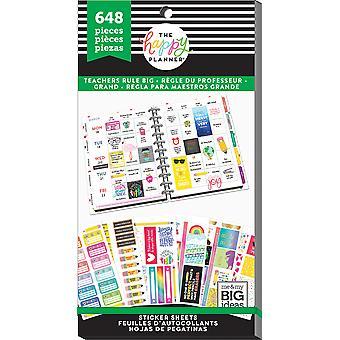 Gelukkig Planner Sticker waarde Pack-leraren regel grote, 648/Pkg