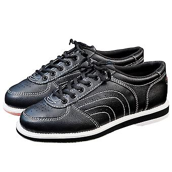 Bowling Shoes, Flat Sports Ten Pin Breathable Leather Men Sneakers