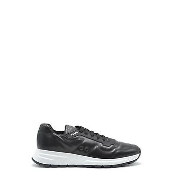 Prada Ezbc021038 Men's Black Leather Sneakers
