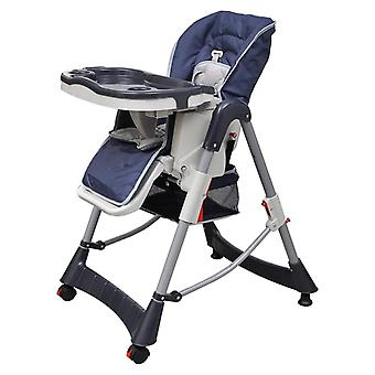 Baby Chair High Chair Deluxe Dark Blue Height Adjustable