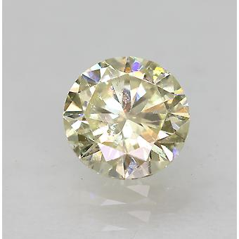 Certified 0.50 Carat L VS1 Round Brilliant Enhanced Natural Diamond 4.99mm 3VG