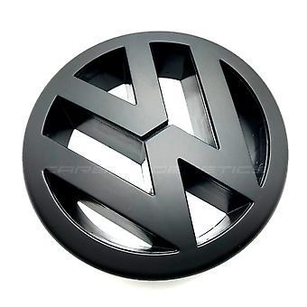 Matt Black VW Volkswagen Golf MK5 Front Grill Bonnet Badge Emblem Grill 125mm 2003-2010