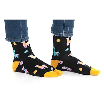 Flip Flop Tabi Socks - Black Llamas-1 Pair