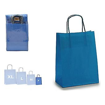 Papierowa torba niebieska (8,5 x 30 x 18 cm)