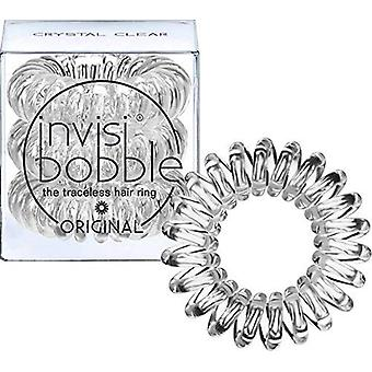 Invisibobble originele haarbanden, kristalhelder, 3 pack - traceless, sterke hold, waterdicht - suitab