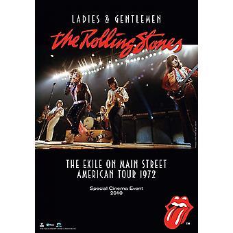 Hyvät naiset ja herrat Rolling Stones elokuvajuliste (11 x 17)