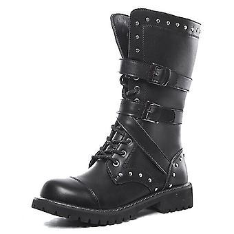 High Top Desert Tactical militära stövlar Män & apos, s läder mc-stövlar Stövlar