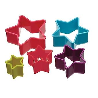 Kitchen 5-piece Star Shaped Cookie Cutter Set