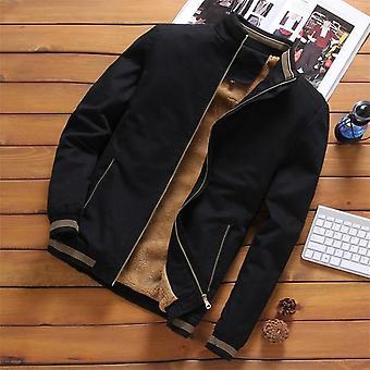 Fleece Jackets Mens Pilot Bomber Jacket, Warm Male Fashion Baseball Hip Hop