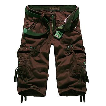 Cargo Shorts, Men Casual Workout Military Multi-pocket Calf-length Pants