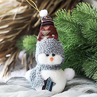 Pingente decorativo do boneco de neve - ornamento caseiro para decoração