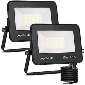 LE 15W Led Floodlight Outdoor, 1300 Lumen LED Security Lights, 100W