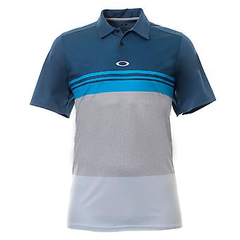 Oakley Colorblock Take Polo Shirt Mens Stripe T-Shirt Golf Top 434039 64W