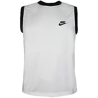 Nike Miesten koripallo harjoitus liivi kuntosali säiliö valkoinen 174482 100