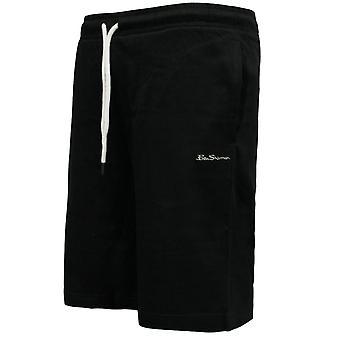 Ben Sherman Mens Training Shorts Running Casual Zwart 0058687-BLK A110A