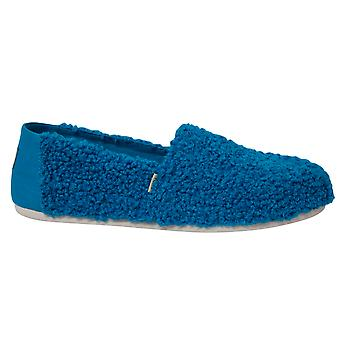 Toms Classic Sesame Street X Blue Cookie Monster Faux Shearling Slip On Shoes Womens 10013640