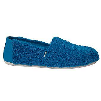 Toms Classic Sésamo Street X Galleta Azul Monstruo Faux Shearling Slip On Shoes Womens 10013640
