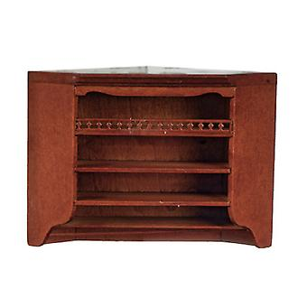 Dolls House Walnut Corner Wall Unit Cabinet Jbm Mobili da cucina in miniatura